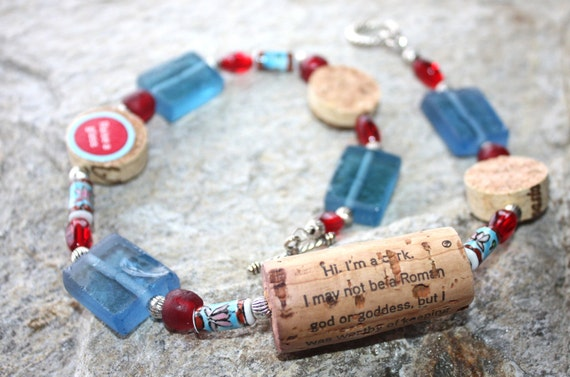 Wine Cork Necklace Featuring Meditrina Wine