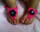 Crochet barefoot baby sandals