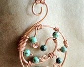 Copper & Turquoise Spiral