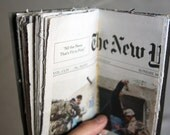 Pages from The New York Times upcycled into art book (2010)