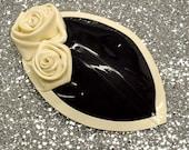 ROSEBUD Headpiece with Decorative Rose Detail