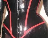 JUSTINE Boned & Tight Laced Latex Corset