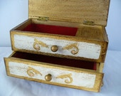 SALE: Vintage Florentine gilt gesso Italian Jewelry Box