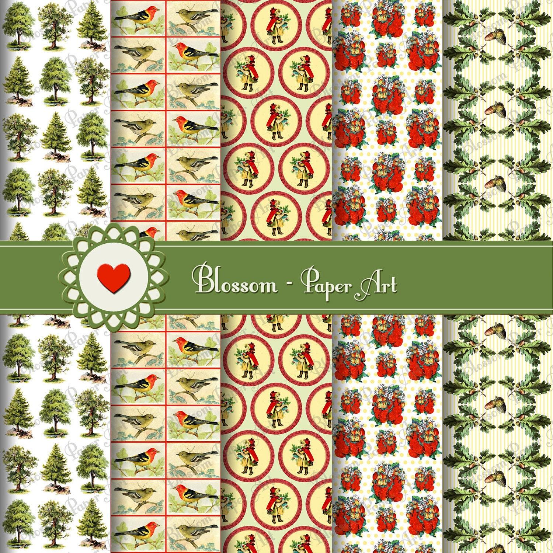 Papeles decorativos para imprimir arboles pinos bosque - Papeles decorativos de pared ...