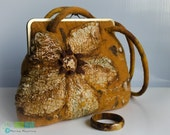 "Felted  handbag ""Sun Flower"" / Felted purses with a zipper"