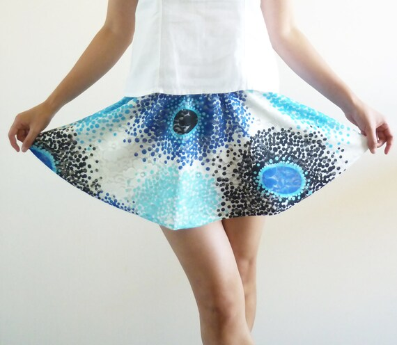 Ocean Blue Mini Lace Skirt (XS-S)