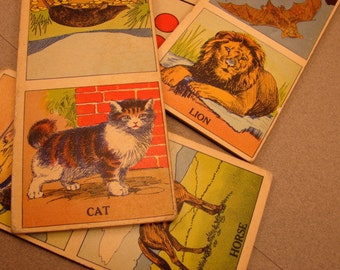 Vintage Animal Dominoes