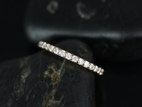 14kt Matching Band to Tiffani/Sarah Shared Prong Diamonds HALFWAY Eternity Band(Other Metals Available)
