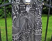 Checkered Swirl Button Up Cutoff