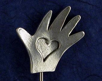 Heart in HandCake Tester