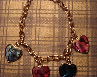 Heart Abalone Shell Bracelet