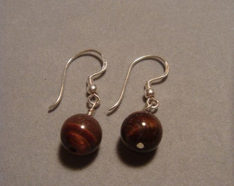 E03 - Red Tiger Eye Earring