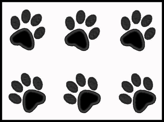 Set Of Mini Paw Prints Applique Design For Embroidery Machines-Instant Download
