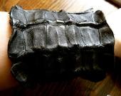 Black Alligator Leather Cuff