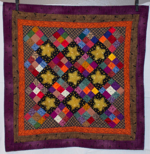 Folk Art, Nine-Patch with Appliqued Stars