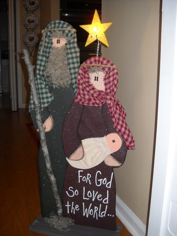 Unavailable listing on etsy for Baby jesus lawn decoration