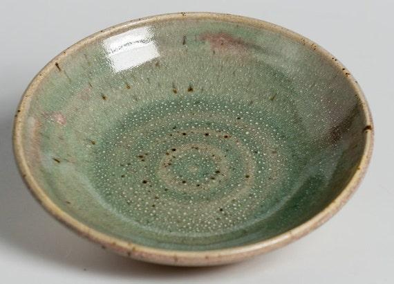 Shallow Speckled Sage Bowl