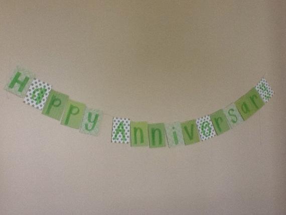 Happy Anniversary. Anniversary banner. light green anniversary banner.