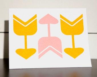 Three Arrows - Letterpress Greeting Card
