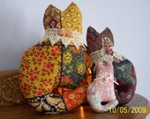 CAT LOVER'S Cuddles Hand-Crafted Amish Cats S-M-L