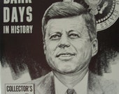 """Four Dark Days In History """"Rare HTF"""" Collectors Edition Kennedy Assassination"""