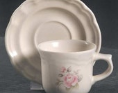 Pfaltzgraff TEA ROSE Coffee Cup & Saucer or Bread/Butter Plate 7 Inches