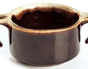 "Vintage Pfaltzgraff Gourmet Brown Sugar Bowl/Open 2-1/8"" Handle"