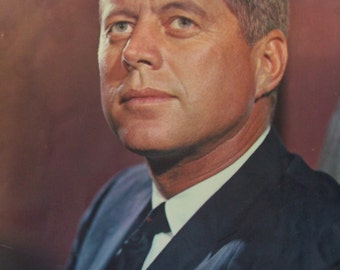 JFK Collectors 1963 Photograph Poster 10X14 ~ President John F Kennedy