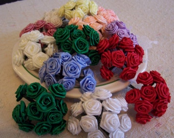 """Craft Ribbon Rosettes 1"""" Inch ~ Many Colors DOLLAR Clearance"""
