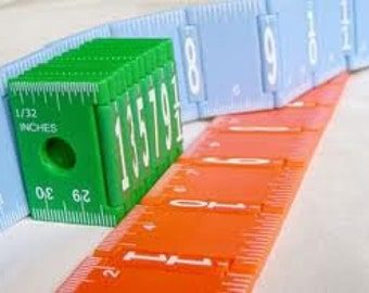 The Ultimate Sewing Knitting Crochet Quilting Jewelry FOLDING RULER - 12 Inches