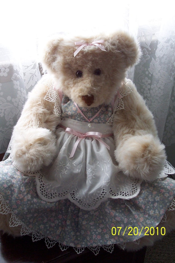 """Plush Designer """"Baby Face"""" Fuzzy 26"""" Jointed Bear by Kathleen's Animals"""