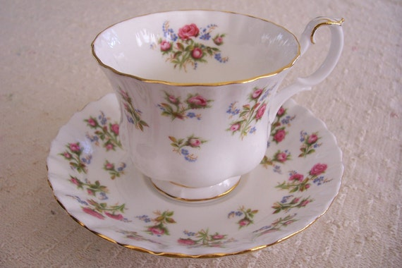 Royal Albert Footed TEA CUP and SAUCER Bone China Made In England