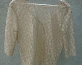 SLOANE I - Nude lace blouse