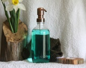 Reserved for  dehemann --Listerine Pharmacal Bottle Jar Soap Dispenser with Metal Pump - Lotion Dispenser