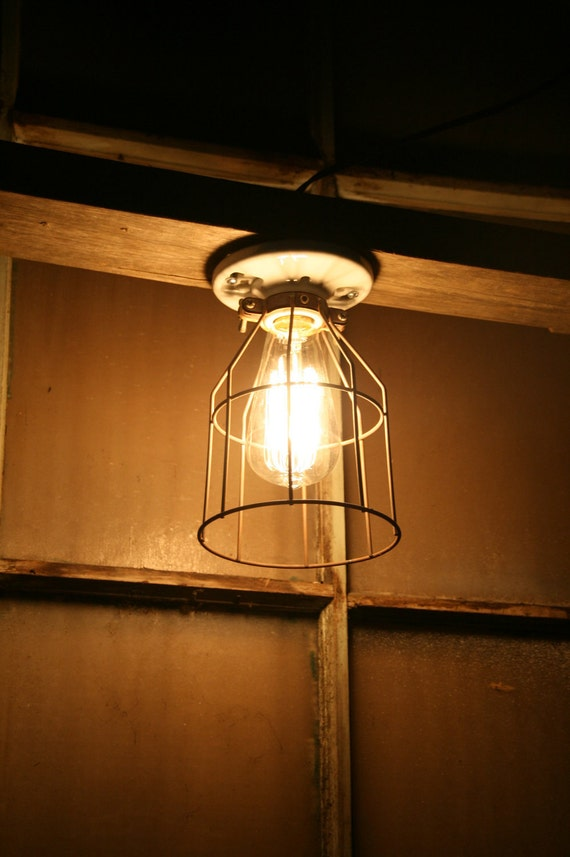 Items Similar To Industrial Light Vintage Style Porcelain Mount Fixture With
