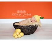 Newborn Photo Prop - Lemon Hat - Made to Order