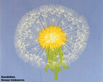 "Dandelion / Artist Unknown - 29"" x 30"" Fabric Panel"