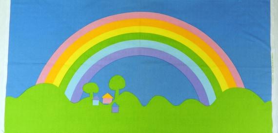 "Sateensaari in Pastel / Artist Unknown - 51"" x 27"" Fabric Panel"