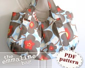 Emmaline Bag PDF Sewing Purse Pattern - A Floral Handmade Purse, Handbag, Shoulder or Hobo Bag