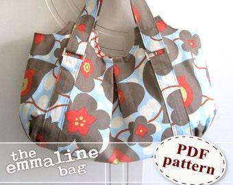 Emmaline Bag PDF Sewing Purse Pattern - A Floral Handmade Purse, Handbag, Hobo Bag
