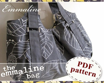 Emmaline Bag PDF Sewing Pattern - An ePattern for Handmade Purse, Handbag, Shoulder or Tote Bag