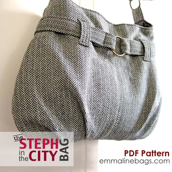 Steph In The City Bag PDF Sewing Pattern - Purse, Handbag, Shoulder or Hobo Bag Pattern