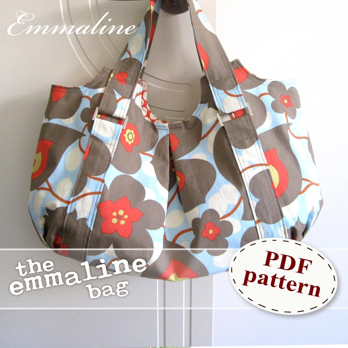Emmaline Bag PDF Sewing Purse Pattern A Floral Handmade