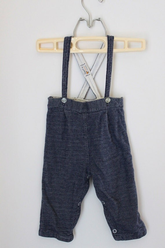 Vintage Baby Fawn Fashion Jean Pants w. Suspender
