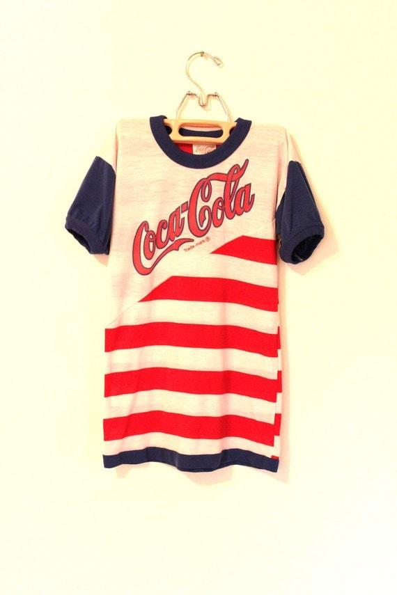 Vintage Girls Coca Cola TShirt Dress