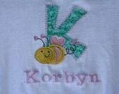 childrens applique shirt personalized valentine