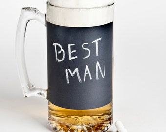 Chalkboard Beer Mug - a unique groomsmen gift