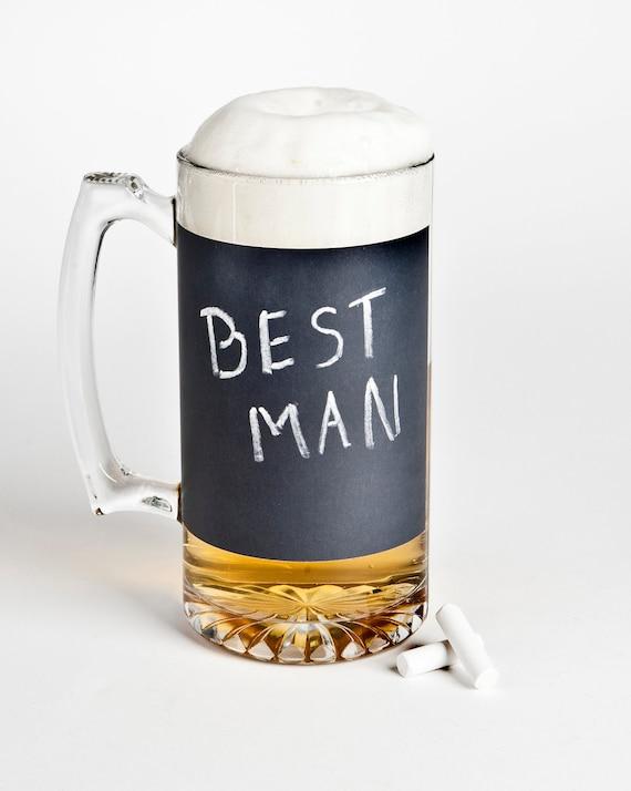 Chalkboard Beer Mug A Unique Groomsmen Gift