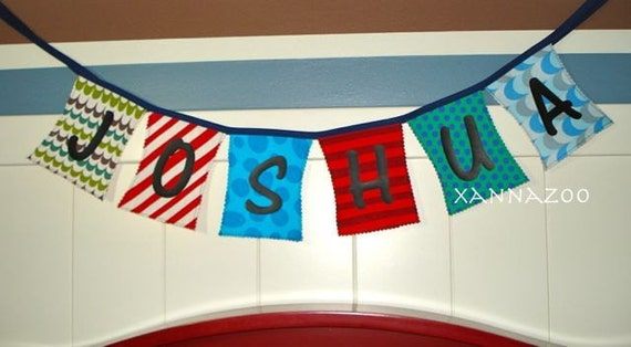 Personalized Fabric Banner