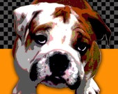"Reserved for Ann--Custom Pet Portrait Pop Art- 13 x 19"" x 2"